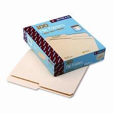 One-Ply Top Tab File Folders, 100/Box