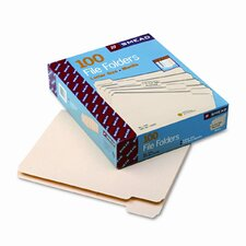 1/5 Cut One-Ply Top Tab File Folders, 100/Box