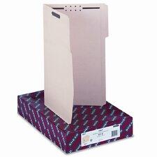 Two Fasteners 1/3 Cut Assorted Top Tabs Folders, 50/Box