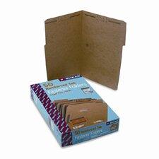 Two Fasteners 1/3 Cut Top Tab 11 Point Kraft Folders, 50/Box