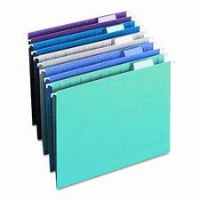 Designer Assortment Hanging Folders, 1/5 Tab, 11 Point Stock, Letter, 25 per Box