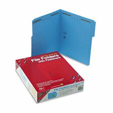 Two Fasteners 1/3 Cut Assorted Top Tab Folders, Letter, 50/Box