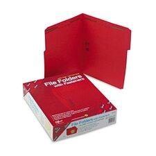 Two Fasteners 1/3 Cut Assorted Folders, 50/Box