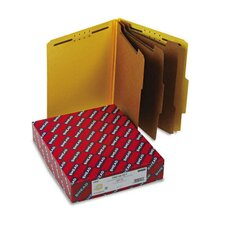 "3"" Expansion Classification Folder, 2/5 Cut, Letter, 8-Section, YW, 10/bx"