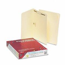 One Fastener Straight Cut Top Tab Folders, Letter, 50/Box