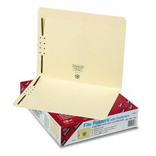 Two Fasteners Straight Cut Top Tabs Folders, Letter, 50/Box