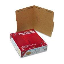 Two Fasteners 2/5 Cut Top Tab 11 Point Kraft Folders, Letter, 50/Box