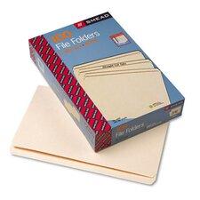 Straight Cut One-Ply Top Tab File Folders, 100/Box