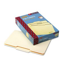 1/3 Cut Second Position One-Ply Top Tab File Folders, 100/Box