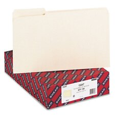 Recycled Two-Ply File Folders, 1/3 Cut, Top Tab, Legal, Manila, 100/Box