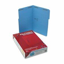 Two Fasteners 1/3 Cut Assorted Top Tab Folders, 50/Box