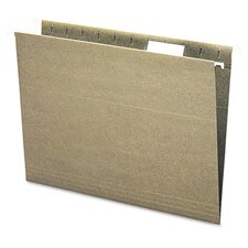 Recycled Hanging File Folders, 1/5 Tab, 11 Point Stock, Letter, Green, 25/Box