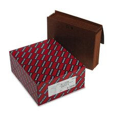 5 in Expansion Wallets w/Leather-Like Cord, 6 Pockets, Redrope, Letter, 10/Box
