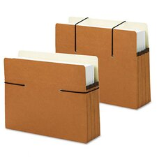 "Secure Pocket, Redrope, 3 1/2"" Expansion, Letter Size, 25/Box"