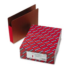 3 1/2 in Expansion File Pockets w/Tyvek, Straight, Letter, Red/Redrope, 10/Box