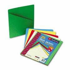 Slash Pocket Folders, 25/Pack