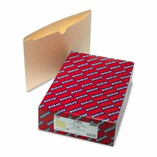 File Jackets w/Double-Ply Top, Legal, 11 Pt. Manila, 100/Bx