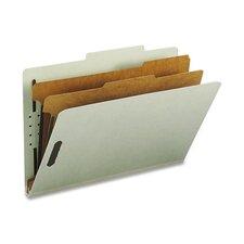 Pressboard Classification Folders, Tab, 10/Box