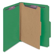 Four-Section Pressboard Classification Folders, Letter, 10/Box