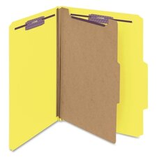 Four-Section Pressboard Classification Folders, 10/Box