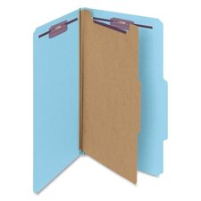 Pressboard Classification Folders, Legal, 10/Box