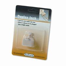 Telephone Duplex Jack, Ivory (Set of 6)