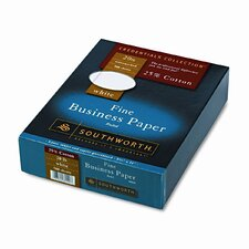 25% Cotton Business Paper, 20 Lbs., Wove, 500/Box, Fsc