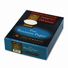 25% Cotton Business Paper, 500/Box, Fsc