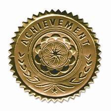 "Certificate Seals ""Achievement"" Embossed Foil, 12/Pack (Set of 2)"
