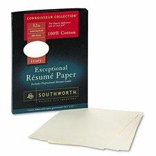 Connoisseur Exceptional Résumé Paper, Ivory, 32lb, Letter, 100 per Box