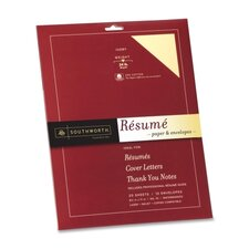 Professional Resume Paper and Envelope