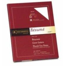 Connoisseur Exceptional Résumé Paper, White, 24lb, Letter, 100 per Box