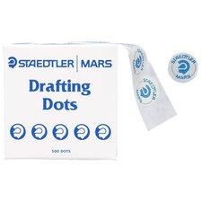 "Drafting Dots, 5/8""Diameter, 500/Roll, Blue/White"