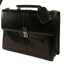Structured Full-Grain Leather Briefcase