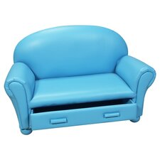 Upholstered Kid's Chaise Lounge with Drawer
