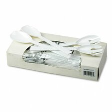 Table Set Plastic Serving Forks and Spoon, 2/Pack, 12 Packs/Box