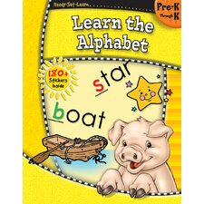 Ready Learn Learn The Alphabet Book Set (Set of 3)