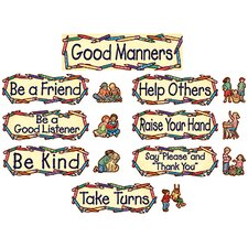 Sw Good Manners Mini Bulletin Board Cut Out Set