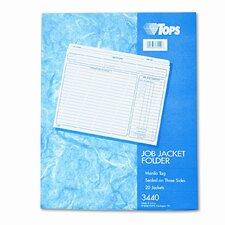 Jacket Style Job Folders, Straight Cut, Indexed, Top Tab, Ltr, MLA, 20/pk