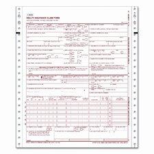 CMS Health Insurance Claim 1500, Lttr, 2-Part, 1500 Continuous Form Sts/Ctn