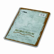 Second Nature Subject Wirebound Notebook, College Rule, Letter, White (Set of 2)