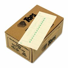 Time Card for Acroprint and Simplex, Weekly, Two-Sided, 3-1/2 x 9, 500 per Box