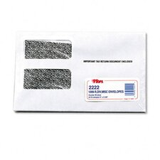 "Double Window Tax Form Envelope / 1099R / Misc Forms, 9"" X 5-5/8"", 24/Pack"
