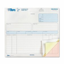 Snap-off Invoice, Three-Part Carbonless, 50 Forms