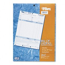 Bill Of Lading,16-Line, Four-Part Carbonless, 50 Forms
