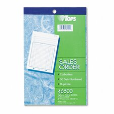 Sales Order Book, Two-Part Carbonless, 50 Sets/Book