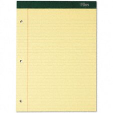 Double Docket Ruled Pads, Legal Rule, Letter, 100 Sheets, 6-Pack