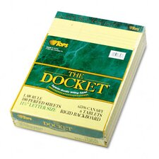 Double Docket Ruled Pads, Law Rule, Letter, 6 100-Sheet Pads/Pack