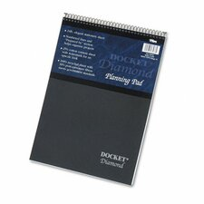 Docket Diamond Top-Wire Planning Pad, Legal Rule, 60 Sheets