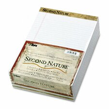 Second Nature Recycled Letter Pads, Legal Red Margin Rule, 50-Sheet, 12/Pack